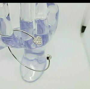 Jewelry - Open Cuff Heart Bangle Bracelet